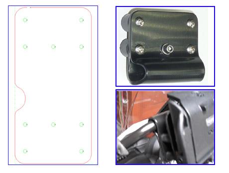 Sauger Halter Halterung Durchmesser 70mm Universal selbstklebende Klebeplatte f