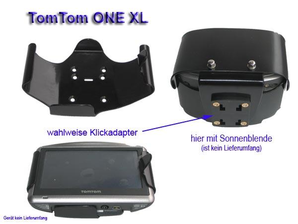 bikertech halteschale f r tomtom one xl nicht xl traffic. Black Bedroom Furniture Sets. Home Design Ideas