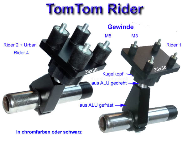 lenkerbefestigung mit gelenk f r tomtom rider. Black Bedroom Furniture Sets. Home Design Ideas